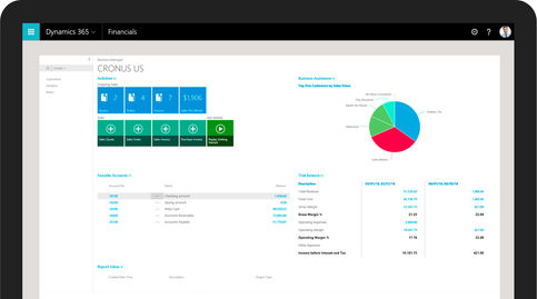 Dynamics 365 for Financials Utah, TN, CA