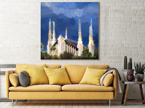Las Vegas, Nevada - LDS Temple Fine Art -- (Instant Download)
