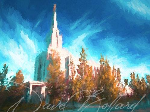 Oquirrh Mountain - LDS Temple Custom Painting