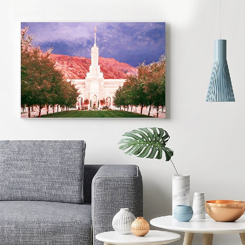 LDS Temple Painting | Mount Timp in American Fork UT