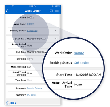 Mobile Dynamics 365 Work Order Screen Shot | JourneyTEAM