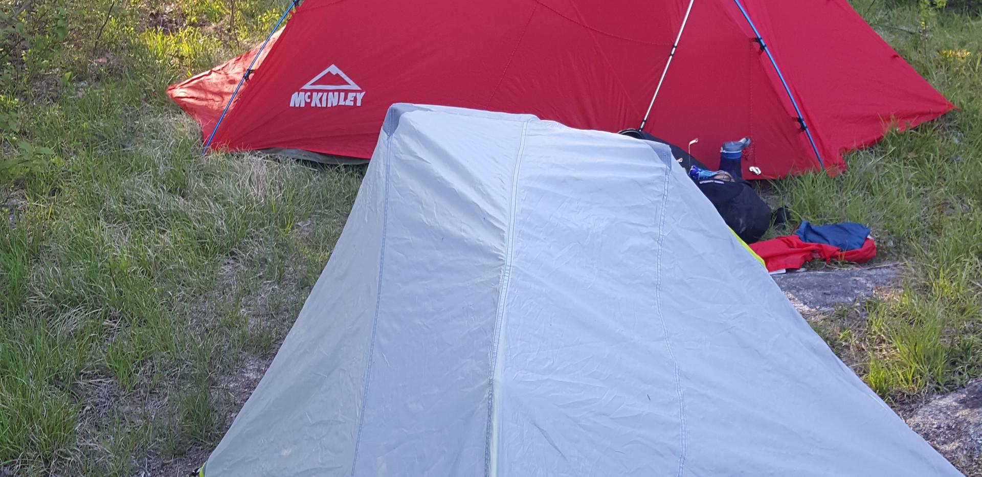 Camping off of Sandy Lake