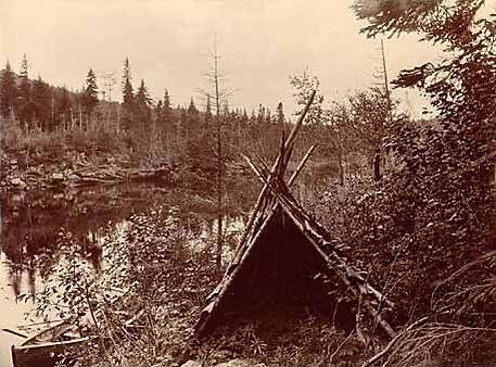 Mikmaq hunting shelter c1890s.jpg