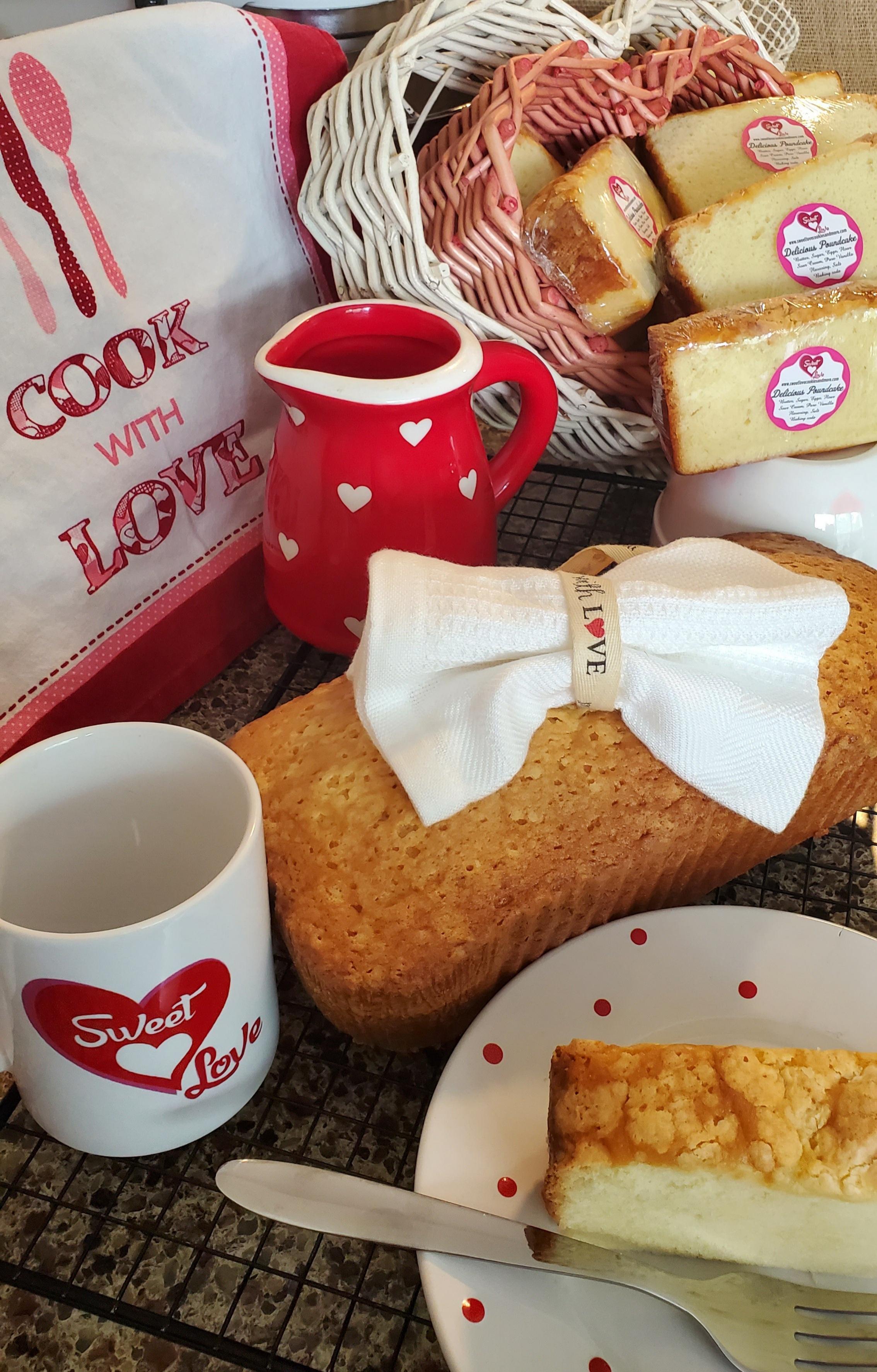 Sweet Love Poundcake and coffee mug