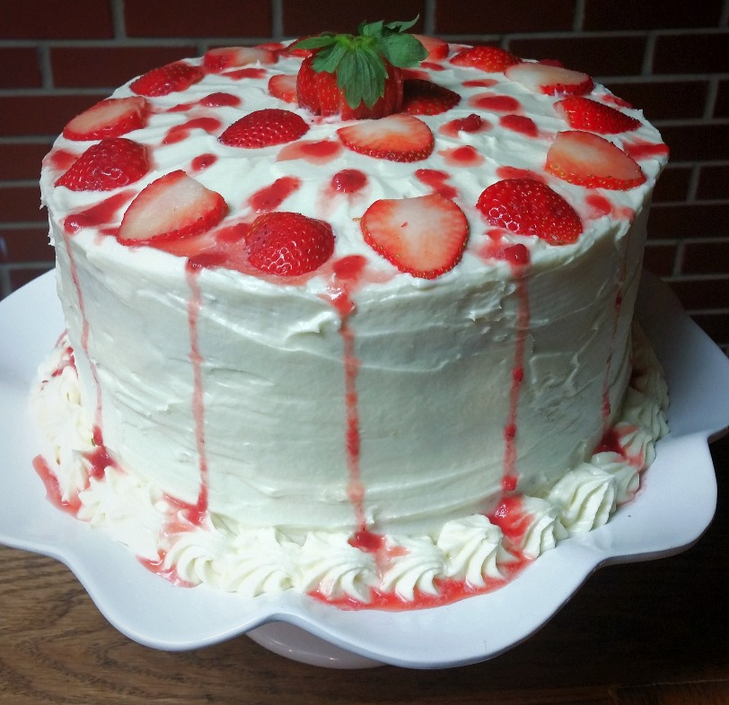 Sweet Love Strawberry Cake