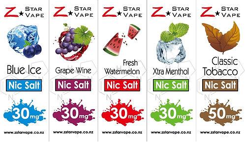5 Flavours NicSalt by ZstarVape