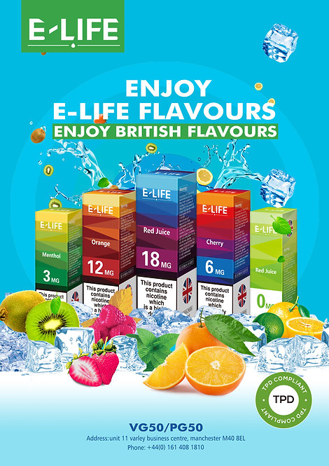 Elife UK 10ml Vape Juice
