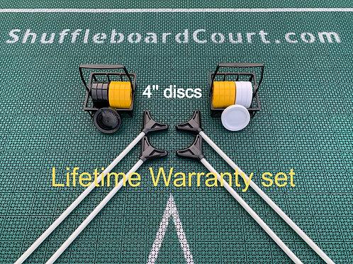 4'' disks+cues LIFETIME WARRANTY SET