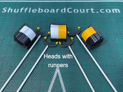 CUE'S HEAD WITH YELLOW RUNNERS