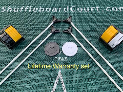 6'' DISKS+CUES Lifetime Waranty set