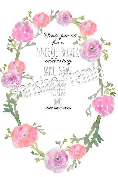Floral Print Invitation