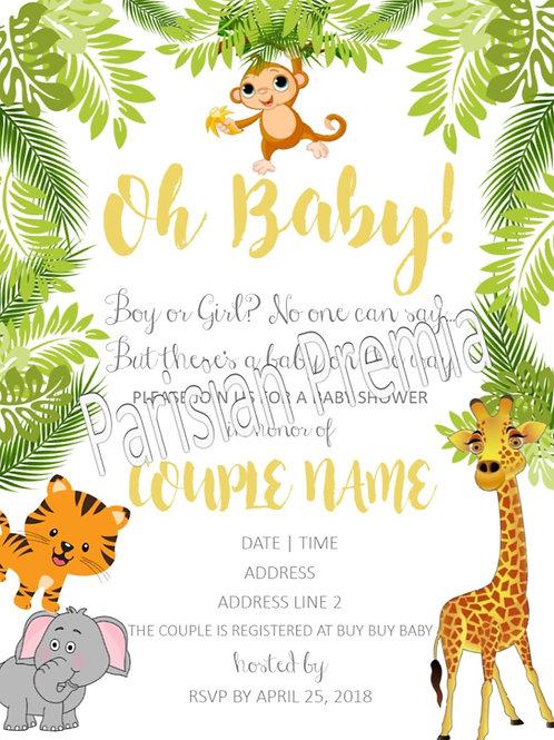 Safari Theme Invitations
