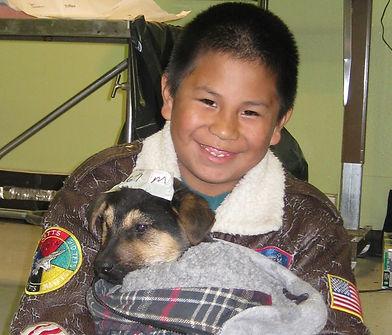 PJ and puppy-Rosebud-apr09.JPG
