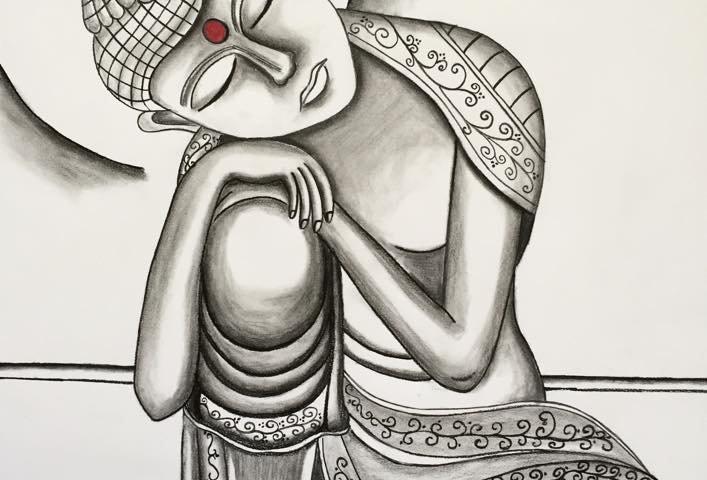 Buddha (Charcoal)