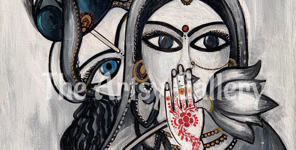 Radha Krishna B&W