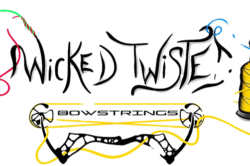 Wicked Twisted Bowstrings Decal Medium