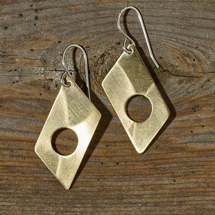 Mini Mid-Mod Earrings in Brass