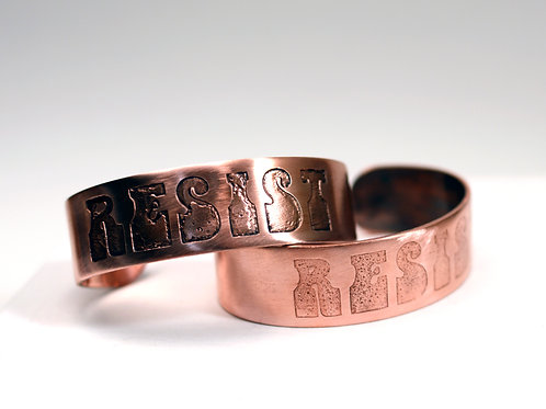 Resist Copper Cuff