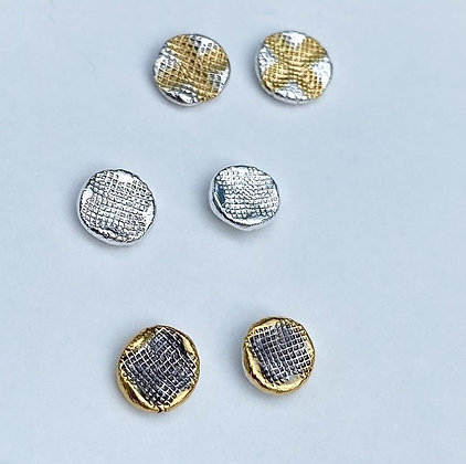 Cross Amp Stud - In Silver or Gold
