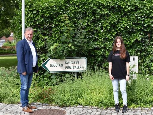 Austauschschülerin aus Pontvallain zu Besuch bei Bürgermeister Gerd Meyer
