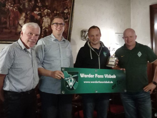 Visbeker Werder-Fan-Club bei Klönrunde der Visbeker Warktstäe zu Gast