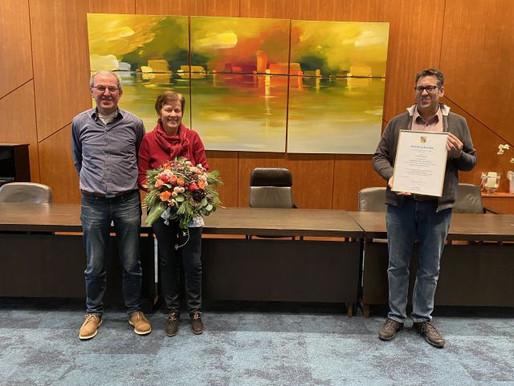 Rita Morthorst feiert silbernes Dienstjubiläum