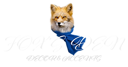 Fox's Den Decor & Accents Logo PNG (Whit