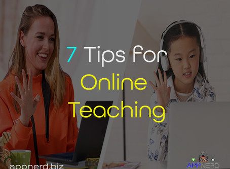7 Great Tips for Online Teaching!