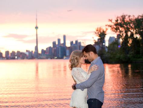 Tassia & Leo, Toronto Island Engagement