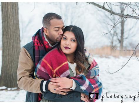 Lavindi & Tyrell's Winter Engagment Shoot