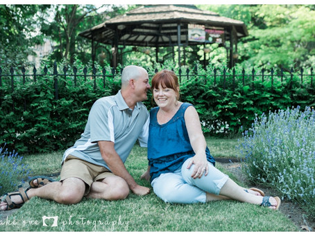 Kelly & Zach Engagement photos at St. James Cathedral, Toronto