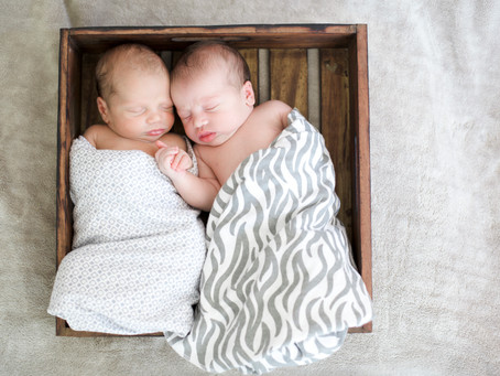 Newborn Twin Lifestyle Photo Shoot - Etta & Clark