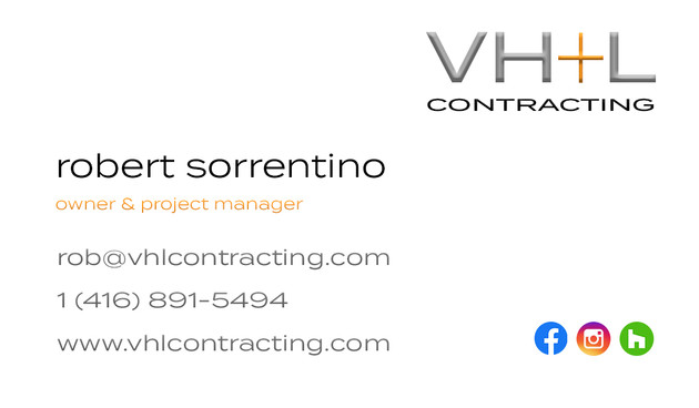 VH+L Contracting - Business Cards Robert