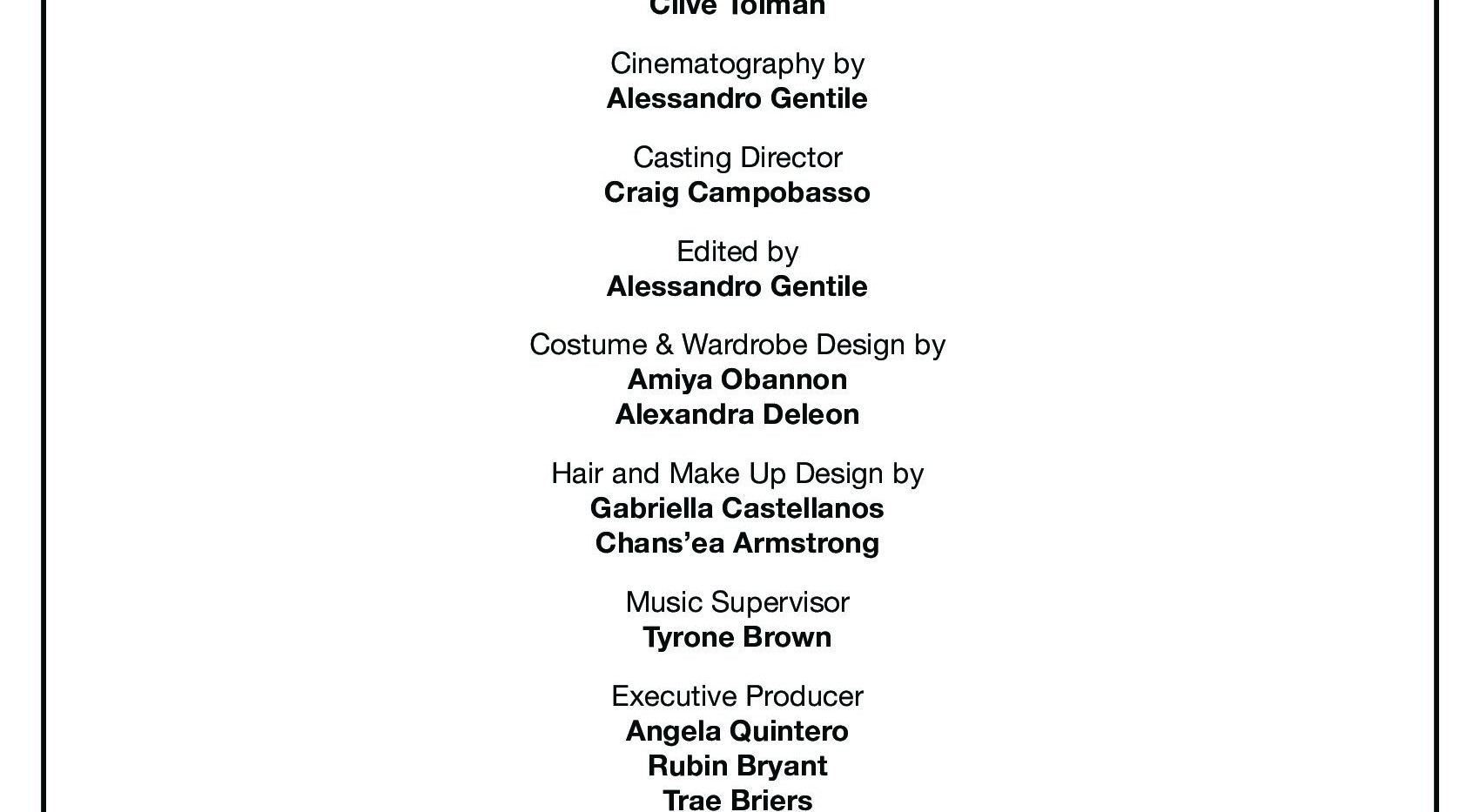TRADE the film - Production Credits