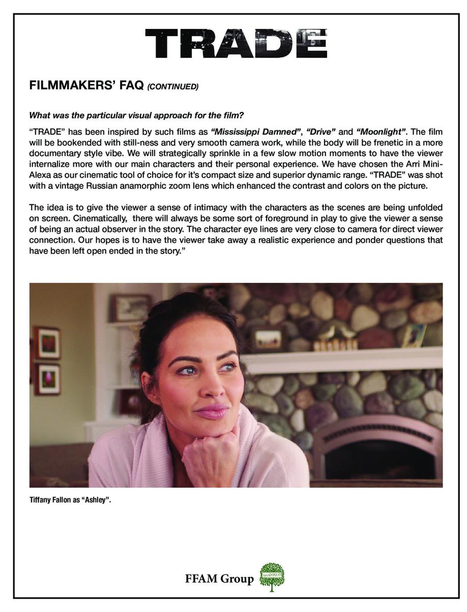 TRADE the film - FAQ's