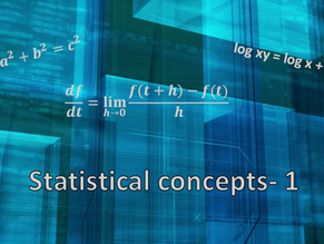 Statistical Concepts- 1
