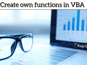 Create own functions in VBA