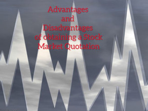 What are the Advantages and Disadvantages of obtaining a Stock Market Quotation?