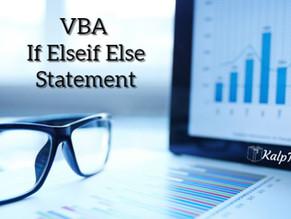 VBA If Elseif Else Statement