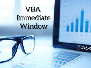 VBA Immediate Window