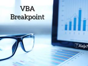 VBA Breakpoint