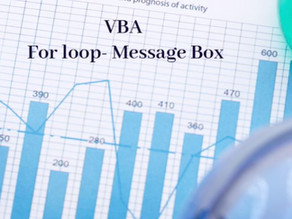 VBA For loop- Message Box