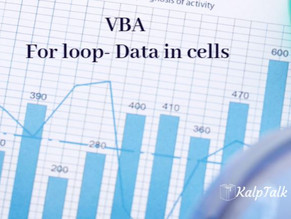 VBA For loop- Data in cells
