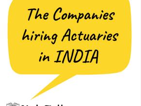 The companies hiring Actuaries in INDIA