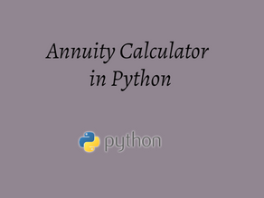 Annuity Calculator in Python
