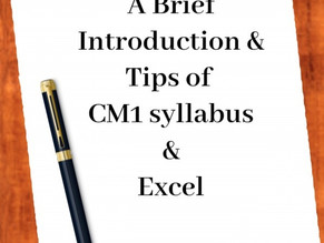 A Brief Introduction & Tips of CM1 syllabus & Excel