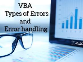 VBA Types of Errors and Error handling
