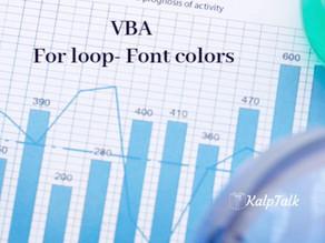 VBA For loop- Font colors