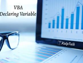 VBA Declaring Variable