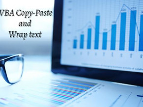 VBA Copy-Paste and Wrap text